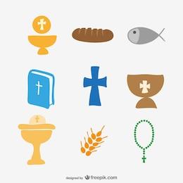 Colección de iconos de iglesia