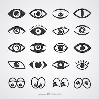 Colección de iconos de ojos