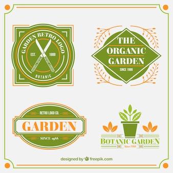 Colección de insignias de jardín