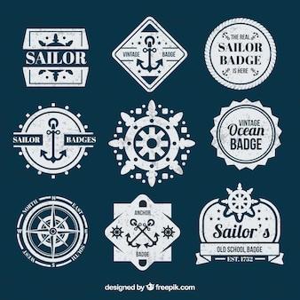 Colección de insignias de marinero