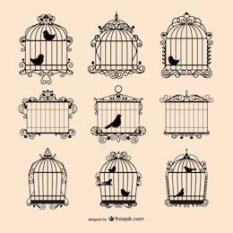 Colección de jaulas de pájaros