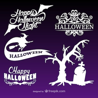 Colección de logotipos de Halloween