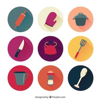 Colección de los iconos de la cocina