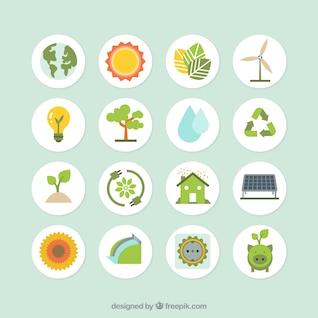 Colección de los iconos de la ecología