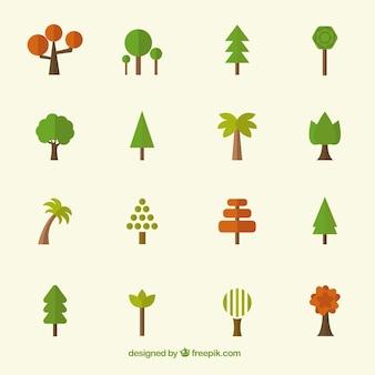 Colección de los iconos del árbol