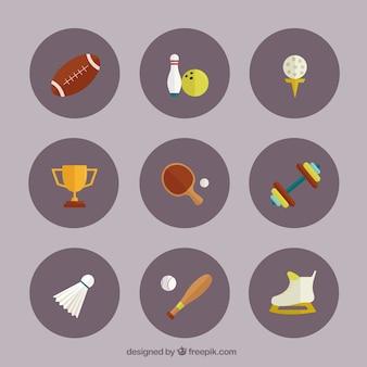 Colección de los iconos del deporte