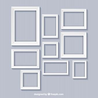Colección de marcos blancos