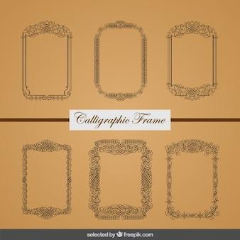 Colección de marcos caligráficos