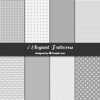 Colección de patrones geométricos grises