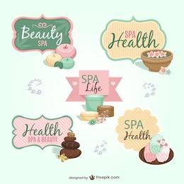 Colección de pegatinas de spa