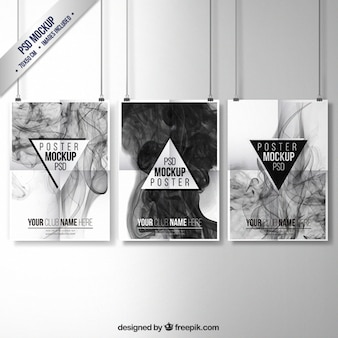 Colección de póster llenos de humo