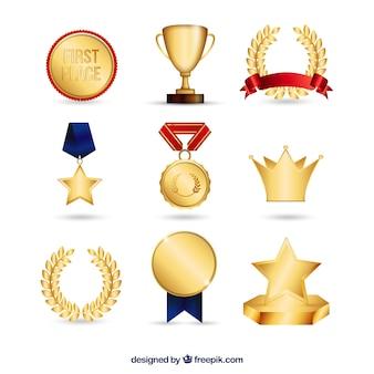 Colección de premios de oro