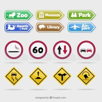 Colección de señales de tráfico