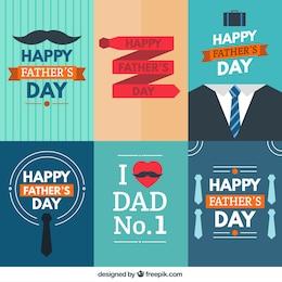 Colección de tarjetas de feliz día del padre