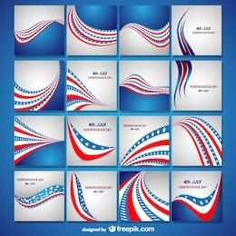 Colección de tarjetas para el Día de la Independencia