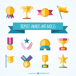 Colección de trofeos y premios
