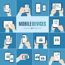 Colección de vectores de dispositivos móviles