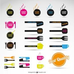 Colección de vectores de restaurante