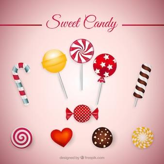 Colección dulce de caramelo