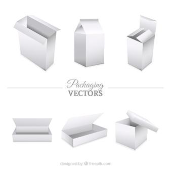 Colección embalajes en blanco