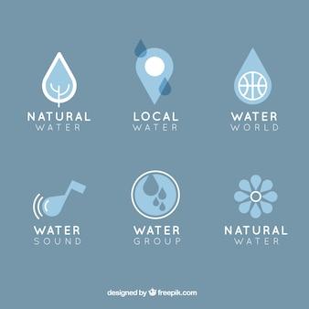 Colección logotipos Agua natural