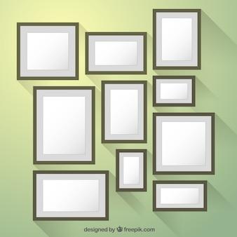 Colección marcos en estilo diseño plano