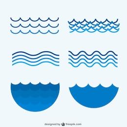 Colección olas de mar