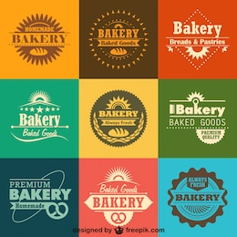 Colección para panadería de logos e insignias retro 30.771 100 hace ...