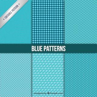 Colección patrones azules