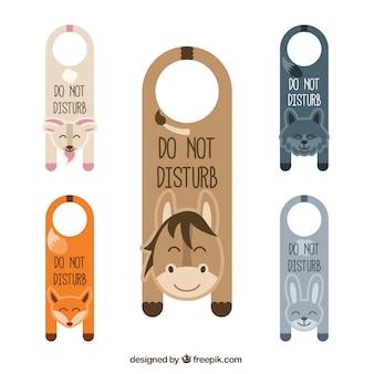 Colgadores de puerta de animales monos