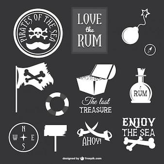Colección de iconos de piratas