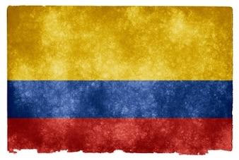 Colombia grunge bandera