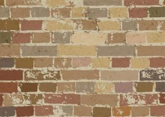 Color ladrillo sucia pared de fondo