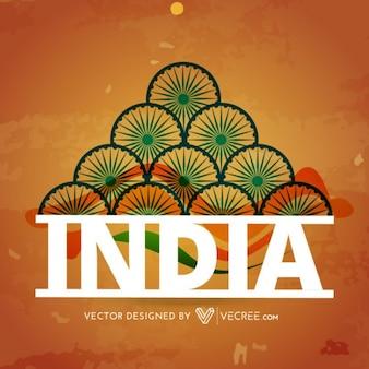 Colores de la India diseño de fondo