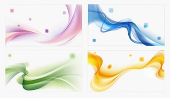 colores olas de fondo abstracto conjunto de vectores