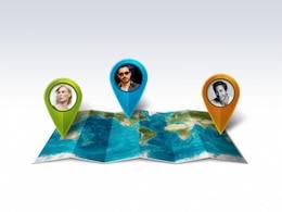 Colores punteros mapa del mundo