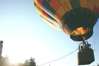 Colorido globo de aire