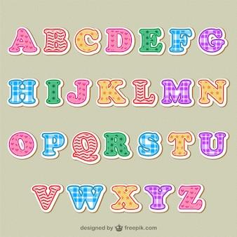 Letras del alfabeto de colores