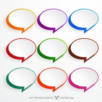 Globos de colores establecidos