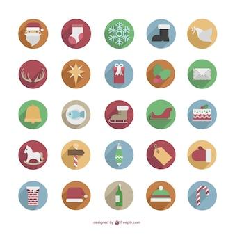 Pack iconos de colores de Navidad