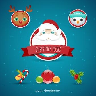 Iconos de navidad de colores