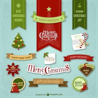 Pegatinas coloridas de Navidad