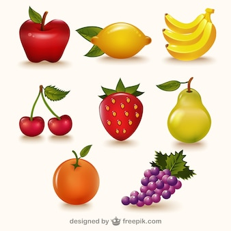 Paquete de frutas de colores