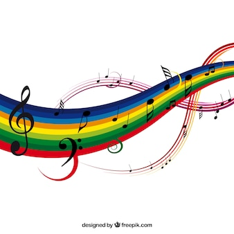 fondo colorido musical ilustración vectorial