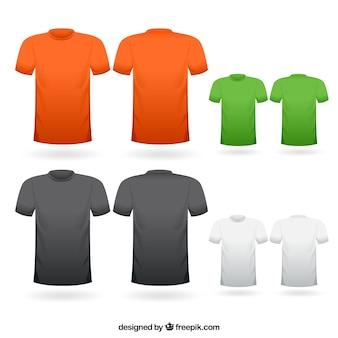 Colorida colección de camisetas