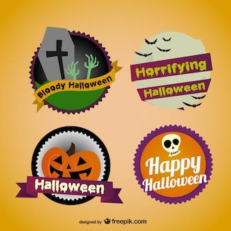Colorida colección pegatinas de halloween