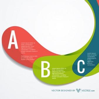 Colorida presentación vector infografía