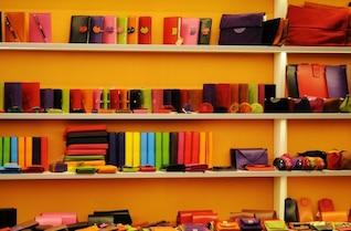 Colorida tienda