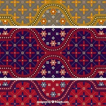 Coloridas del batik patrón de ilustrador vectorial