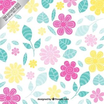 Colorido floral de fondo